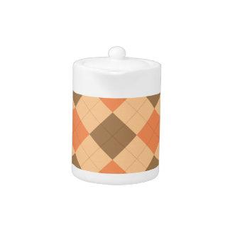 Brown and orange argyle pattern