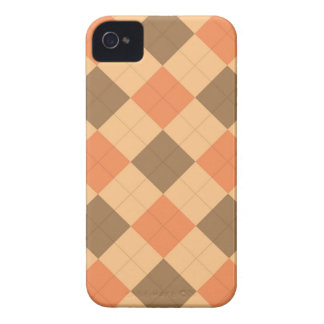 Brown and orange argyle pattern iPhone 4 cover