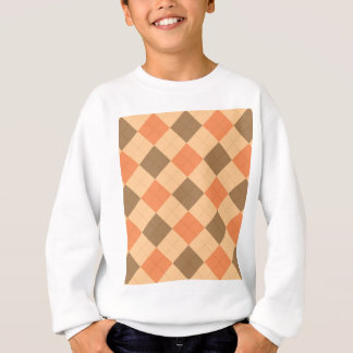 Brown and orange argyle pattern sweatshirt