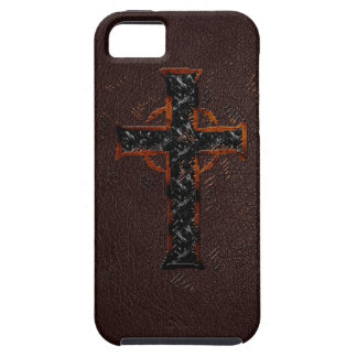 Brown and Orange Cross iPhone 5 Case