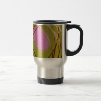 brown and pink egg on the nest 15 oz stainless steel travel mug