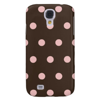 Brown and Pink Polka Dots