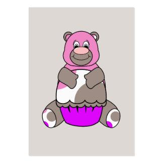 Brown And Pink Polkadot Bear Business Card
