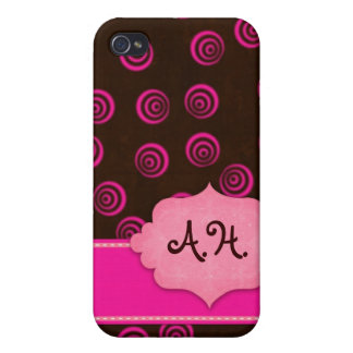 Brown and Pink Swirly Girly Case iPhone 4/4S Case