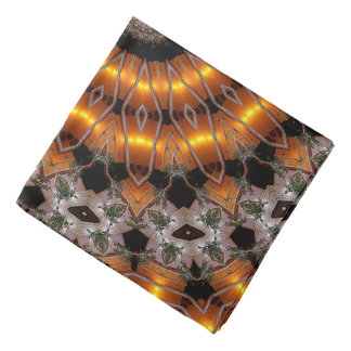 Brown And Purple Abstract Concentric Pattern Bandana