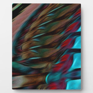 Brown And Red Abstract Plaque