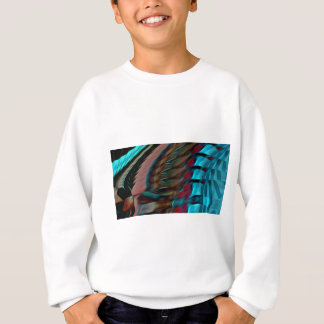 Brown And Red Abstract Sweatshirt
