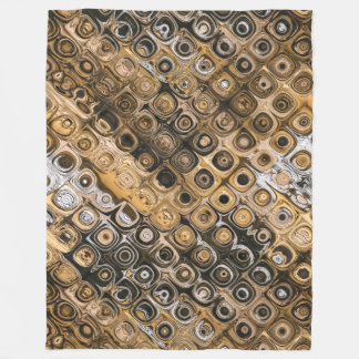 Brown And Tan Abstract Fleece Blanket