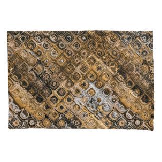 Brown And Tan Abstract Pillowcase