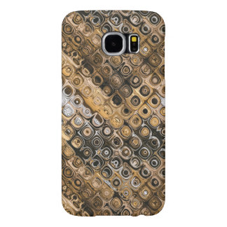 Brown And Tan Abstract Samsung Galaxy S6 Cases