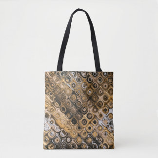 Brown And Tan Abstract Tote Bag