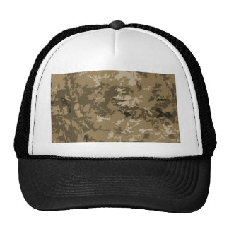 Brown and Tan Camouflage Nature Camo Pattern Trucker Hat