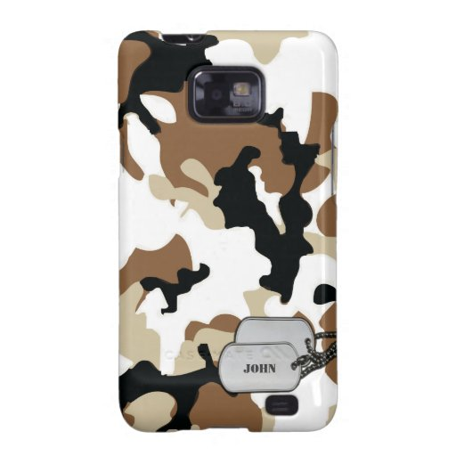 Brown and Tan Desert Military Camouflage Samsung Galaxy Cover