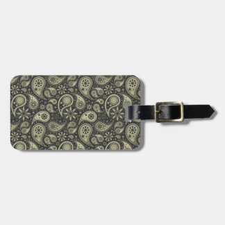 Brown and Tan Paisley Design Pattern Background Bag Tag