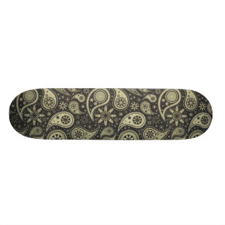 Brown and Tan Paisley Design Pattern Background Custom Skate Board