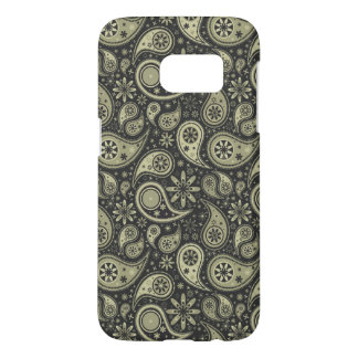 Brown and Tan Paisley Design Pattern Background Samsung Galaxy S7 Case