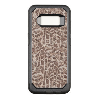 Brown and Tan Snake Skin Pattern OtterBox Commuter Samsung Galaxy S8 Case