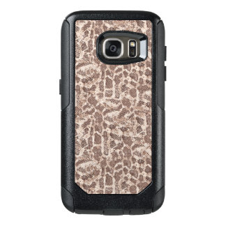 Brown and Tan Snake Skin Pattern OtterBox Samsung Galaxy S7 Case