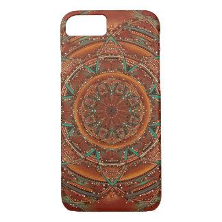 Brown and teal fractal mandala southwest iPhone 7 case