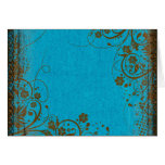 Brown And Teal Greeting Card