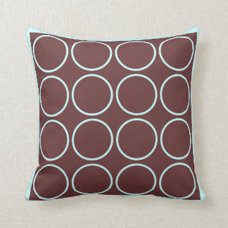 brown and teal  modern  pillow