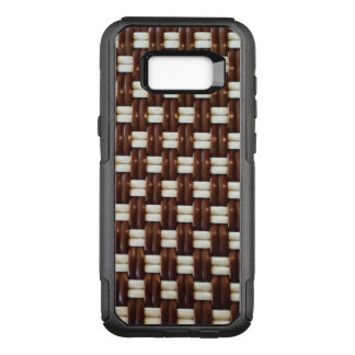 Brown and White Basket Weave OtterBox Commuter Samsung Galaxy S8+ Case