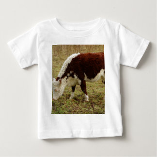 Brown and White Calf Infant T-shirt