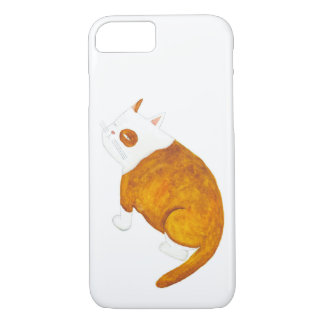 Brown and White Cat iPhone 7 Case