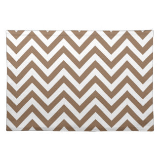 Brown and White Chevron Pattern Zigzag Placemat
