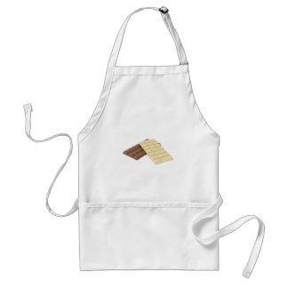 Brown and white chocolate bars standard apron