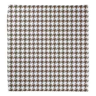 Brown And White Combination Houndstooth Bandana