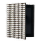 Brown And White Combination Houndstooth iPad Cover