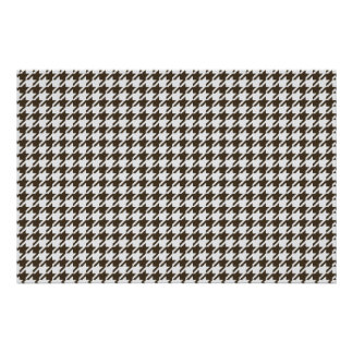 Brown And White Combination Houndstooth Poster