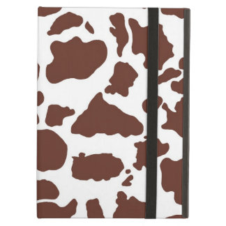 Brown and White Cow Print Cover For iPad Air