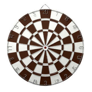Brown And White Dartboard