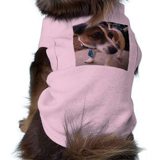 Brown_And_White_Fox_Terrier,_Pink_Ribbed_Pet_Coat Doggie Tshirt