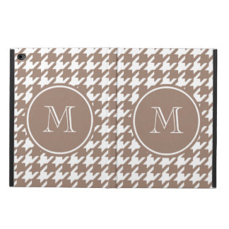 Brown and White Houndstooth Your Monogram