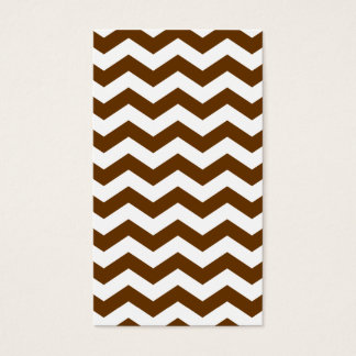 Brown and White Zigzag Business Card