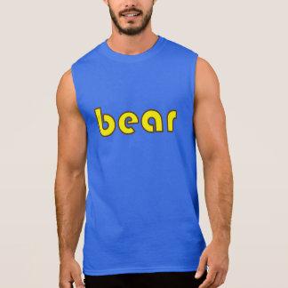 "Brown and Yellow ""bear"" Sleeveless T Sleeveless Tees"