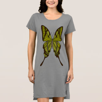 Brown and Yellow Butterfly Dress