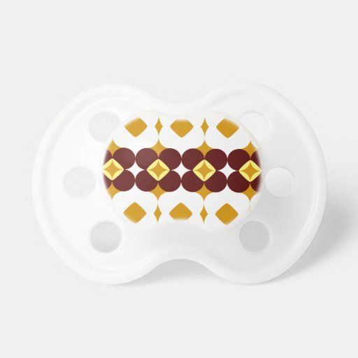 Brown and yellow flowers pacifier