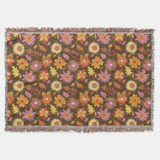 Brown and Yellow Flowery blanket Primavera Flowers