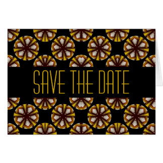 Brown and Yellow Save the Date Greeting Card