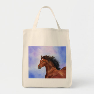 Brown Andalusian horse bag