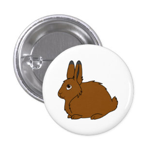 Brown Arctic Hare 1 Inch Round Button
