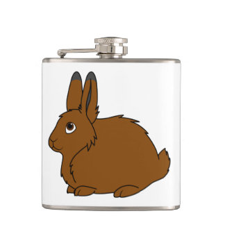 Brown Arctic Hare Hip Flask