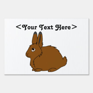 Brown Arctic Hare Sign