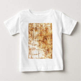 brown art burn smoke Abstract Antique Junk Style F Baby T-Shirt