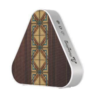 Brown Art Deco Tiles Speaker