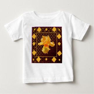 BROWN ART DIAMOND  PATTERN GOLDEN BEARDED  IRIS BABY T-Shirt